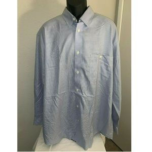 Orvis Wrinkle Free Button Up Mens Shirt Tall 3XL